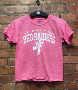 CLEARANCE- Mechanicville Youth Breast Cancer Ribbon T-shirt