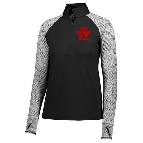 Jr Red Raiders Cheerleading Heather Mesh 1/4 Zip- Girls & Ladies, 2 Colors
