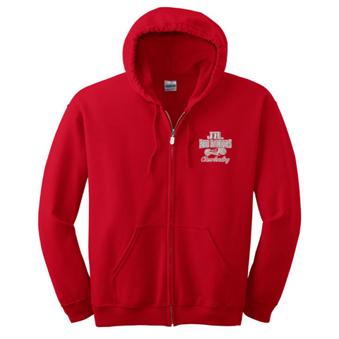 Jr Red Raiders Cheerleading Full Zip Hoodie- Youth & Adult, 3 Colors