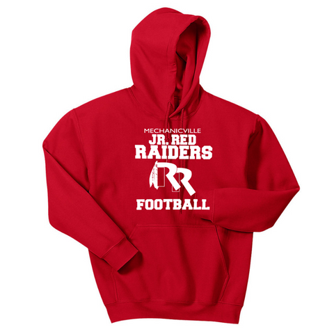 Jr Red Raiders Football Hoodie- Youth & Adult, 3 Colors
