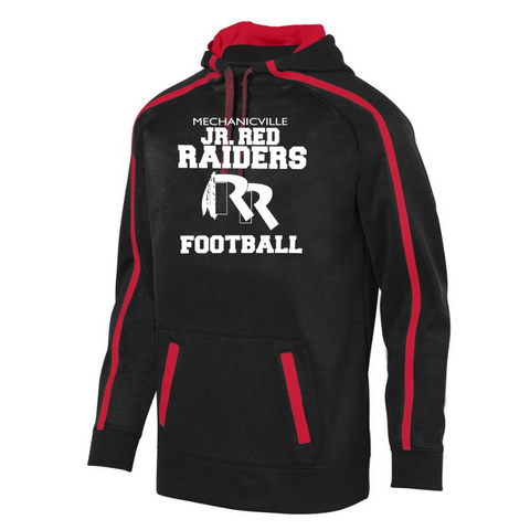 Jr Red Raiders Football Performance Hoodie- Youth, Ladies & Men's, 2 Colors