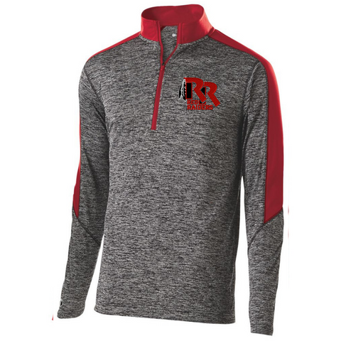 Jr Red Raiders Football Heather 1/4 Zip Pullover- Youth, Ladies, & Men's, 3 Colors