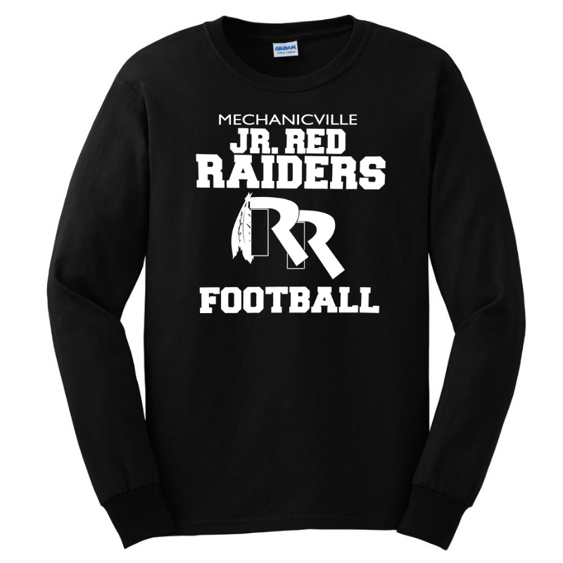 Jr Red Raiders Football Long Sleeve Tee- Youth & Adult, 3 Colors