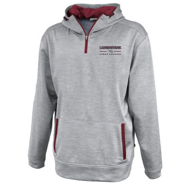 Lansingburgh Cross Country Hooded 1/4 Zip Performance Pullover- 2 Colors