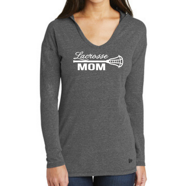 Lacrosse Custom Family Fan Long Sleeve Hooded Tri-Blend Tee- Ladies & Men's, 3 Colors
