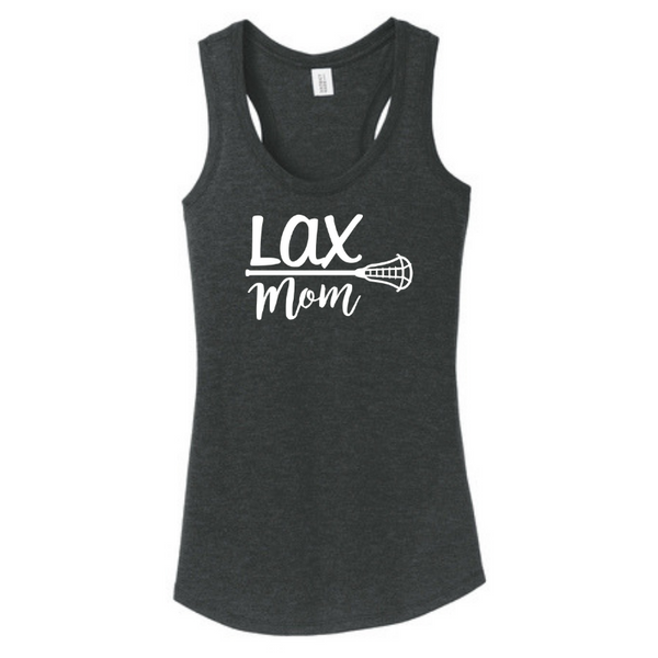 "Ladies Racerback ""Lax Mom"" Tank- 7 Colors"