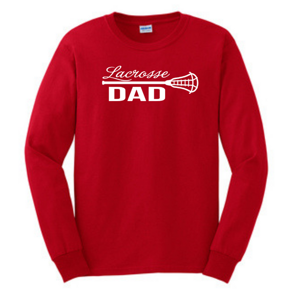 Lacrosse Custom Family Fan Long Sleeve Shirt- Youth & Adult, 7 Colors