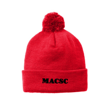 Load image into Gallery viewer, MACSC Solid Pom Pom Beanie- 5 Colors