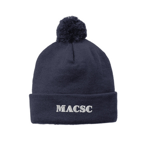 MACSC Solid Pom Pom Beanie- 5 Colors