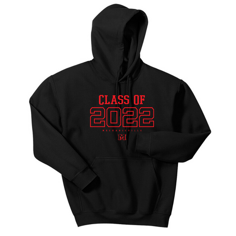 Mechanicville Class of 2022 Hoodie- Youth & Adult, 3 Colors, 2 Logo Options