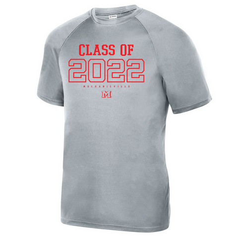 Mechanicville Class of 2022 Short Sleeve Performance Tee- Youth, Ladies, & Men's, 3 Colors, 2 Logo Options