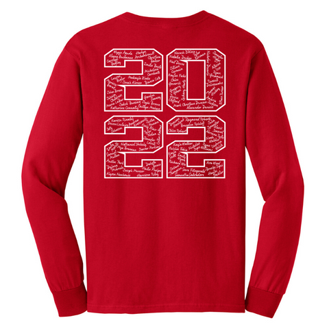 Mechanicville Class of 2022 Long Sleeve T-Shirt- Youth & Adult, 3 Colors, 2 Logo Options