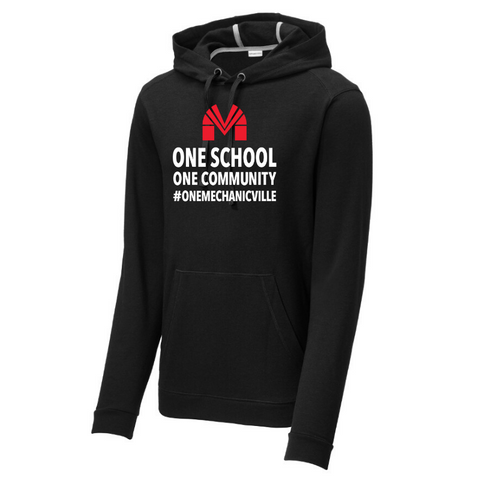 Mechanicville Tri-Blend Fleece Hoodie- Ladies & Men's, 3 Colors, 2 Logos