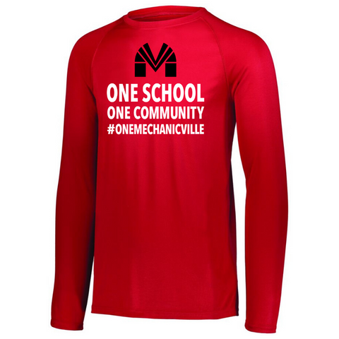 Mechanicville Long Sleeve Performance Tee- Youth, Ladies & Men's, 3 Colors
