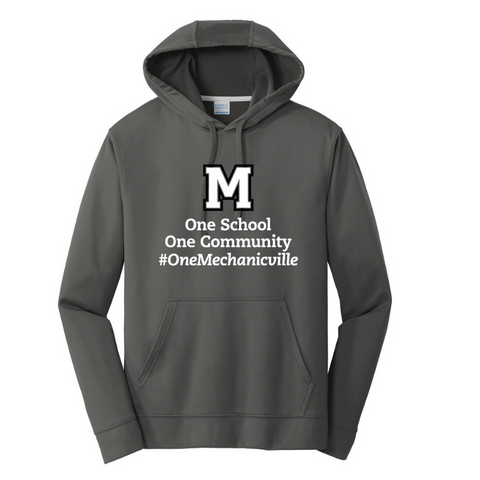 Mechanicville Long Sleeve Performance Tee- Youth, Ladies & Men's, 4 Colors, 2 Logos