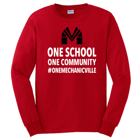 Mechanicville Long Sleeve Tee- Youth & Adult, 3 Colors