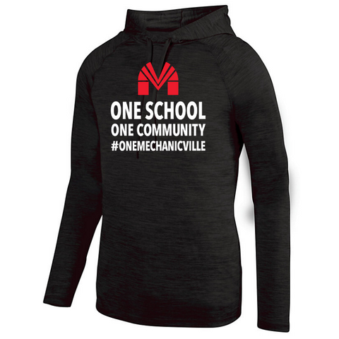 Mechanicville Long Sleeve Hooded Heather Performance Shirt- Ladies & Men's, 2 Colors