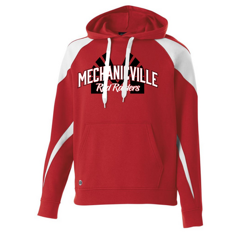 Mechanicville Red Raiders Two-Tone Hooded Sweatshirt- Youth & Adult, 3 Colors