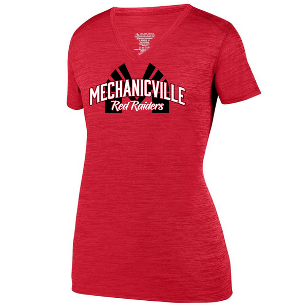 Mechanicville Red Raiders Tonal Heather Performance Tee- Youth, Ladies & Men's, 2 Colors