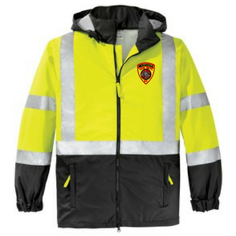 High Visibility Hooded Windbreaker