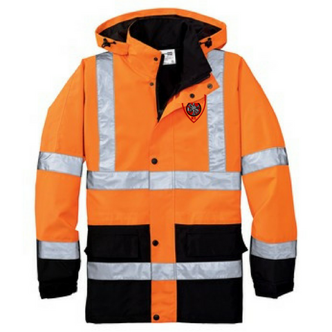 High Visibility Waterproof Hooded Jacket- 2 Colors
