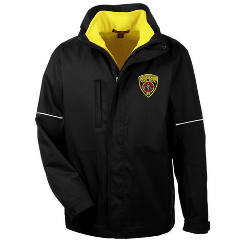 Full-Zip 3-in-1 Jacket with Hi-Vis Fleece Vest- 2 Colors