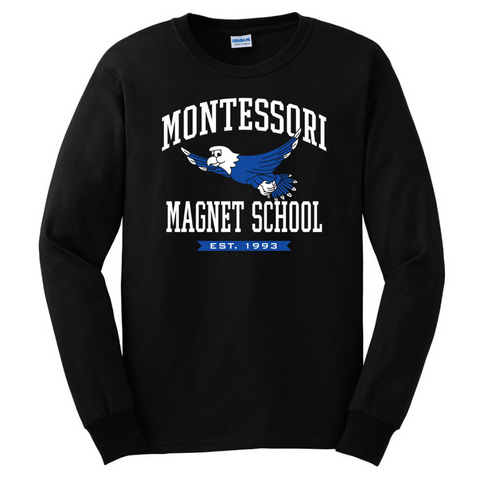 Montessori Long Sleeve Tee- Youth & Adult, 3 Colors, 2 Logos