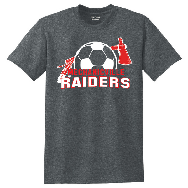 Mechanicville Soccer Tee- Youth & Adult, 3 Colors, 2 Logos