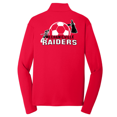 Mechanicville Soccer Long Sleeve Lightweight Zip Pullover- Ladies & Men's, 3 Colors
