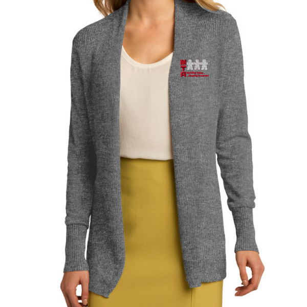 MTA Ladies Open Cardigan Sweater- 2 Colors