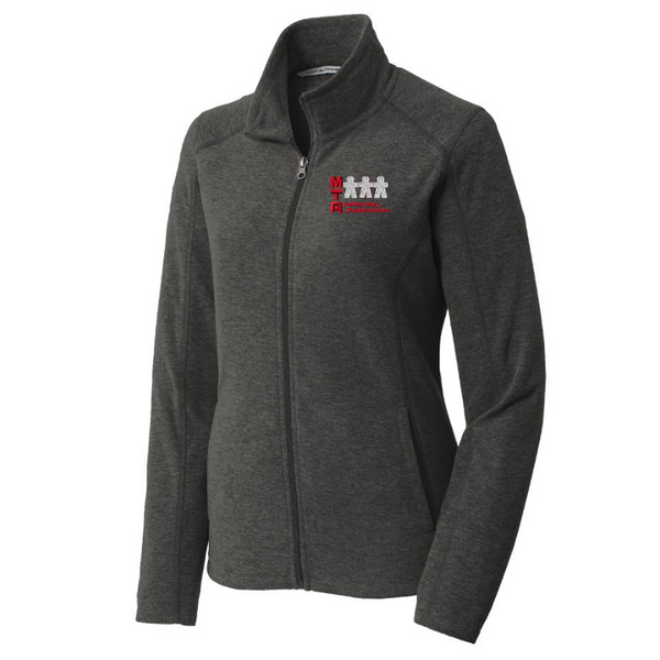 MTA Heathered Full Zip Micro-Fleece- Ladies & Men's, 2 Colors
