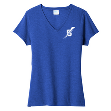 Load image into Gallery viewer, Maple Ave Ladies V-neck Blend Tee- 2 Colors