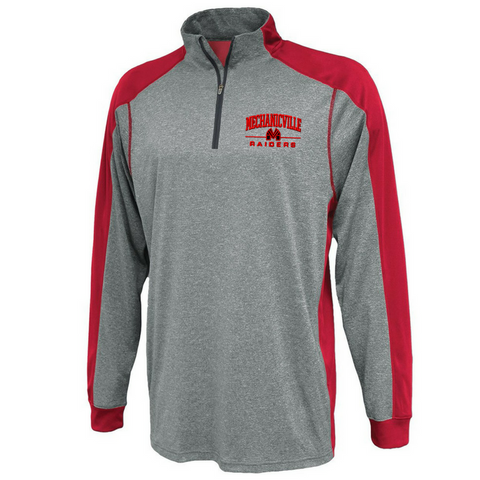 Mechanicville Red Raiders Colorblock 1/4 Zip Pullover- Youth & Adult, 2 Colors