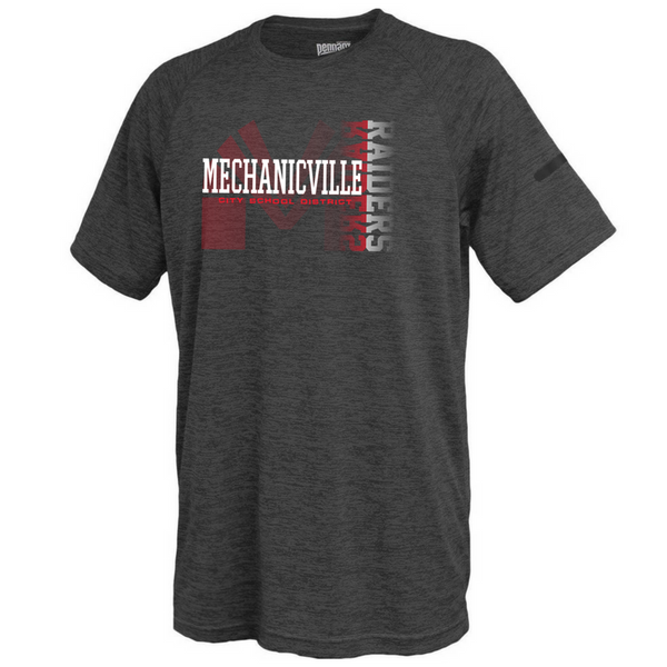 Mechanicville Red Raiders Space-Dye Performance Tee- Youth & Adult, 3 Colors