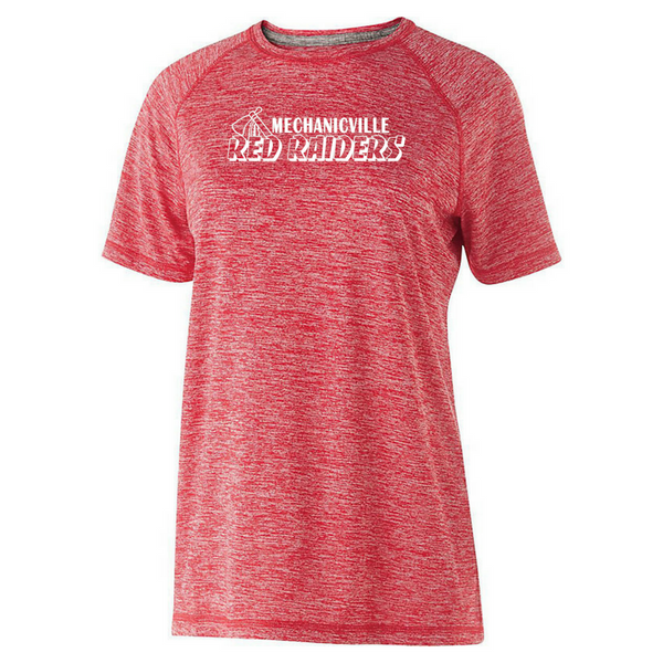 Mechanicville Red Raiders Heather Performance Tee- Youth, Ladies, & Men's, 2 Colors