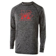 Load image into Gallery viewer, Mechanicville Red Raiders Long Sleeve Heather Performance Tee- Youth, Ladies, & Men's, 2 Colors