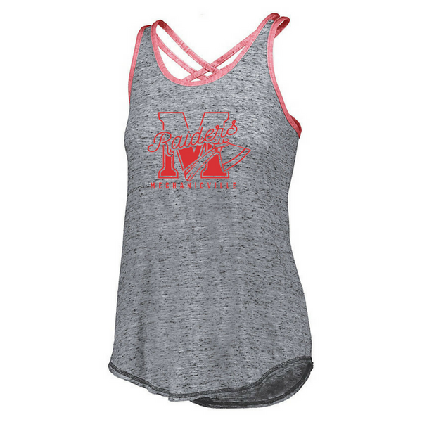 Mechanicville Red Raiders Ladies Cross Back Tank- 2 Colors