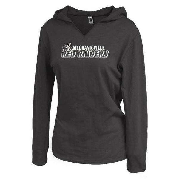 Mechanicville Red Raiders Ladies Lightweight Hooded Long Sleeve- 2 Colors
