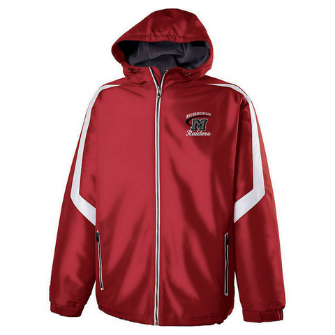Mechanicville Red Raiders Hooded Full Zip Jacket- Youth & Adult, 2 Colors