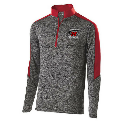 Mechanicville Red Raiders Heather 1/4 Zip Pullover- Youth, Ladies, & Men's, 3 Colors
