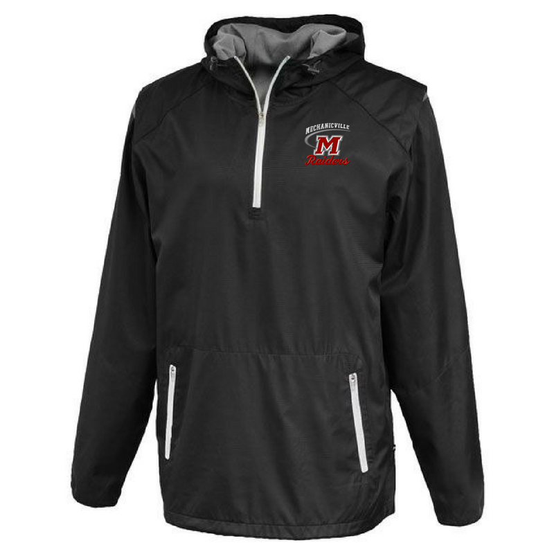 Mechanicville Red Raiders Hooded 1/4 Zip Windbreaker- 2 Colors