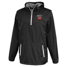 Load image into Gallery viewer, Mechanicville Red Raiders Hooded 1/4 Zip Windbreaker- 2 Colors