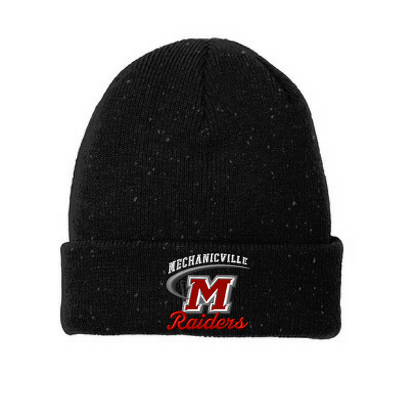 Mechanicville Red Raiders Speckled Beanie- 2 Colors