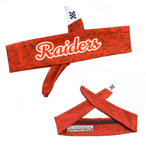 CLEARANCE- Mechanicville Red Raiders Custom Tie-Back Headband