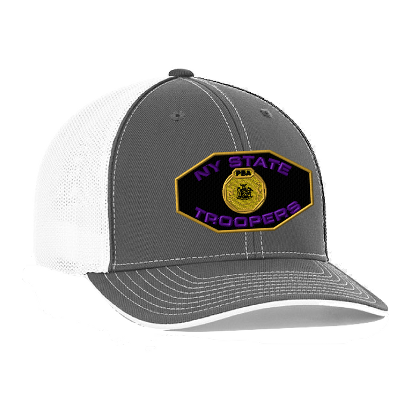 NYS Troopers Fitted Trucker Mesh Hat- 3 Logo Options