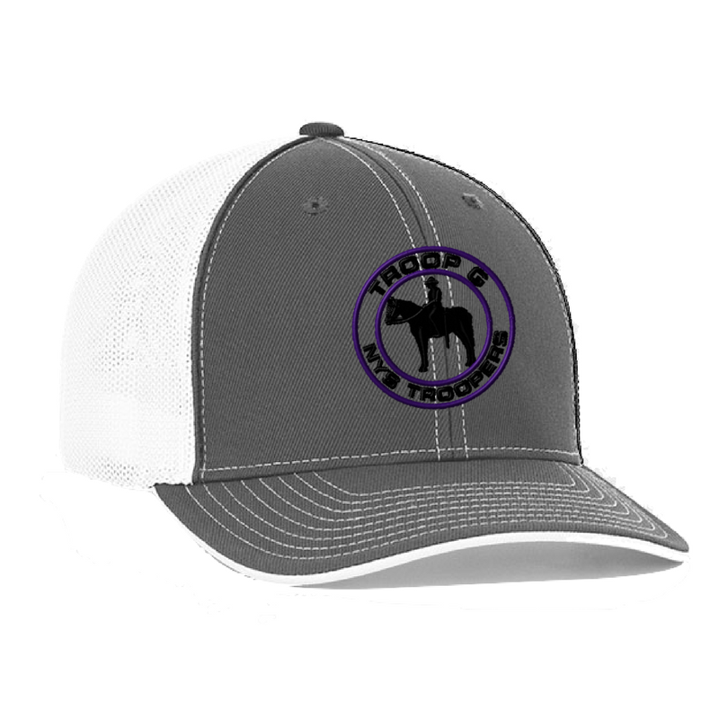 fb095e2b8fa NYS Troopers Fitted Trucker Mesh Hat- 3 Logo Options – Val s Sporting Goods