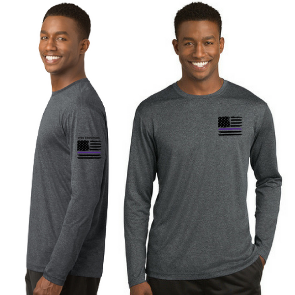 NYS Troopers Heather Long Sleeve Performance Tee- Ladies & Men's, 4 Colors, 2 Logo Options