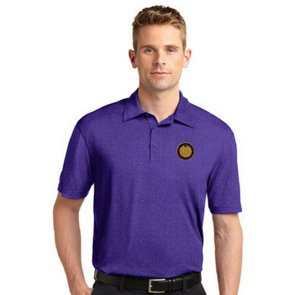 NYS Troopers Heather Performance Polo- 2 Logo Options
