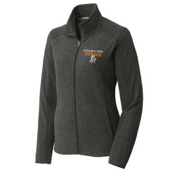 Schuylerville Heathered Full Zip Fleece- Ladies & Men's, 3 Colors