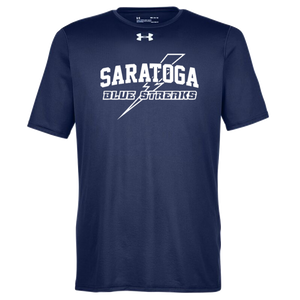 Saratoga Blue Streaks Under Armour Short Sleeve Performance Shirt- Ladies & Men's, 3 Colors
